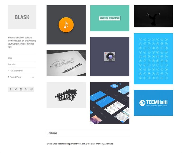 Blask - minimal portfolio theme